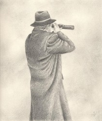 """Augury"", 2001, Graphite on Paper, 10 x 8 1/2 in., by David Jay Spyker"