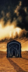 """A Light Against the Dark"", 1997, Acrylics on Canvas, 30 x 12 in., by David Jay Spyker"