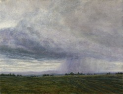 """Approaching Storm (A Landscape Study)"", 2009, Acrylics on Canvas, 7 x 9 in., by David Jay Spyker"