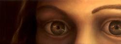 """""""Glimpse"""", 2000, Acrylics on Hardboard, 2 9/16 x 7 in., by David Jay Spyker"""