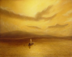 """Into the Gloaming"", 2000, Acrylics on Hardboard, 8 x 10 in. by David Jay Spyker"