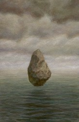 """Stone and Sea"", 2003, Acrylics on Hardboard, 6 x 4 in., by David Jay Spyker"