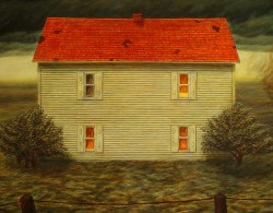 """The Haven (In Memory of Martin Maddox, 1954-1997)"" (detail), 1998, Acrylics on Panel, 24 x 36 in., by David Jay Spyker"