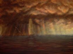 """""""The Voyage"""", 2002, Acrylics on Hardboard, 7 1/2 x 10 in., David Jay Spyker"""
