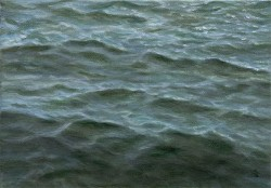 """Water Study #1"", 2008, Acrylics on Canvas, 5 x 7 in., by David Jay Spyker"