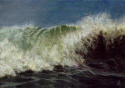 """Wave Study #1"", 2008, Acrylics on Canvas, 5 x 7 in., by David Jay Spyker"