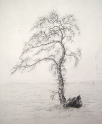 """Hope, Sketchbook Study"", 1997, Graphite on Paper, Preliminary study for the painting ""Hope"" - excerpt from one of the artist's sketchbooks, by David Jay Spyker"