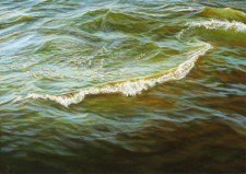 """Pierside"", 2013, Acrylic on Hardboard, 5 x 7 in., by David Jay Spyker"