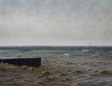 """Inlet"", 2011, Acrylics on Canvas, 14 x 18in., by David Jay Spyker"