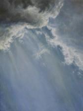 """""""Breaking"""", 2010, Acrylics on Paper Mounted on Hardboard, 9 x 12 in., by David Jay Spyker"""