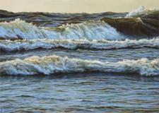 """Cusp of September"", 2013, Acrylics on Hardboard, 5 x 7 in., by David Jay Spyker"