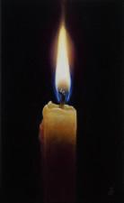 """""""Lumen"""", 2011, Acrylics on Hardboard, 4 7/8 x 3 in., by David Jay Spyker"""