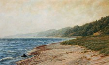 """One Last Summer"", 2012, Acrylics on Canvas Mounted on Panel, 12 x 20 in., by David Jay Spyker"