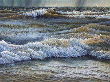 """""""Running"""", 2010, Acrylics on Canvas, 18 x 24 in., by David Jay Spyker"""