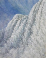 """Waterfall Study (Niagara From Below)"", 2010, Acrylics on Canvas, 9 x 12 in., by David Jay Spyker"