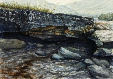 """Channel"", 2011, Watercolor and Drybrush on Paper, 11 5/16 x 16 1/8 in., by David Jay Spyker"