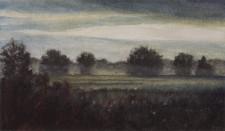 """Homeward"", 2011, Mixed Media on Paper, 9 x 15 3/8 in., by David Jay Spyker"