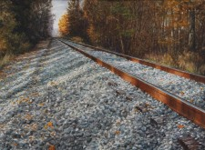 """Northbound"", 2010, Watercolor/Drybrush on Paper, 21 x 28 3/4 in., by David Jay Spyker"