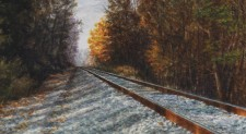 """Northbound"", 2010, Watercolor/Drybrush on Paper, Detail, by David Jay Spyker"