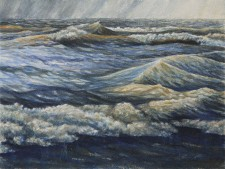 """""""The End of June"""", 2010, Watercolor/Drybrush on Paper, 12 1/8 x 16 1/8 in., by David Jay Spyker"""