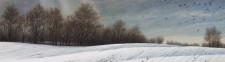 """Winter Murder"", 2012, Acrylics on Canvas, Detail, by David Jay Spyker"